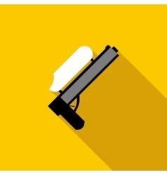 Paintball gun icon flat style vector image