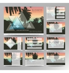 Palm tree poster and print tropical background vector image