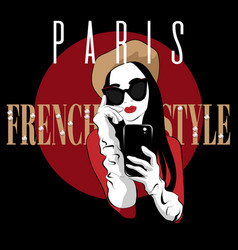 paris french style hand drawn of vector image