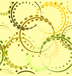 pastel curls and circles of yellow and green vector image