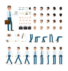 Person creation set in simple cartoon design vector