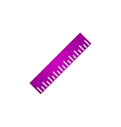 Ruler Icon Flat design style EPS vector image