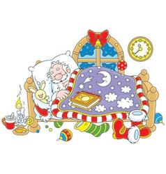 Santa Claus sleeping vector image