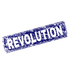 Scratched revolution framed rounded rectangle vector