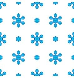 Seamless Blue Snowflake Pattern vector image