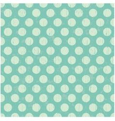 Seamless pattern pale green polka dots vector image