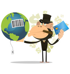 selling and buying earth vector image