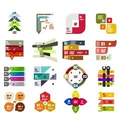 Set of modern infographic design templates vector