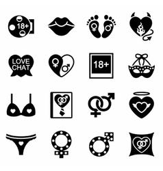 Sex icon set vector image