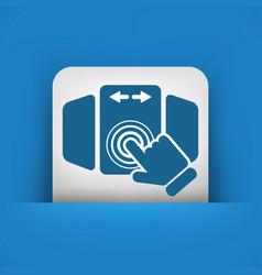 slide screen icon vector image
