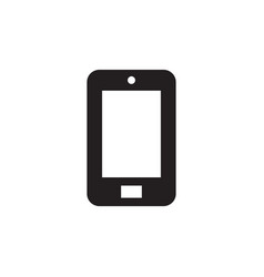 Smartphone - black icon on white background vector