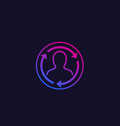 Staff rotation trendy icon vector