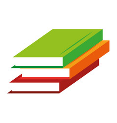 Text book school isolated icon vector
