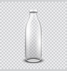 transparent glass bottle vector image