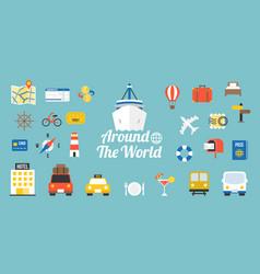 Travel around world typographic vector