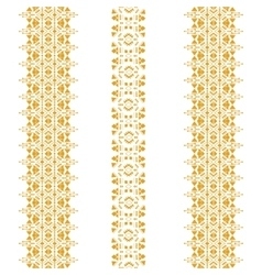 Tribal seamless pattern gold vertical vector