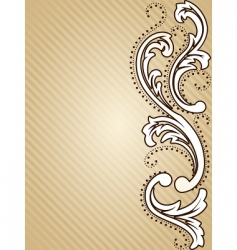 Vertical vintage sepia background vector