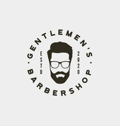 vintage barbershop logo retro styled hair salon vector image