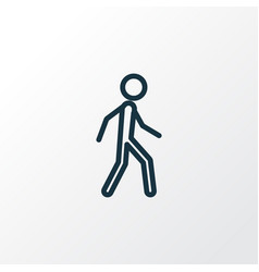 Walking outline symbol premium quality isolated vector