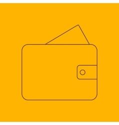 Wallet line icon vector