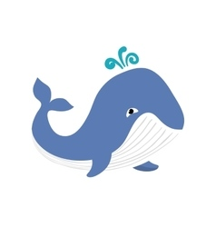 Whale sea life animal icon graphic vector