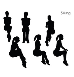 Woman in sitting pose vector