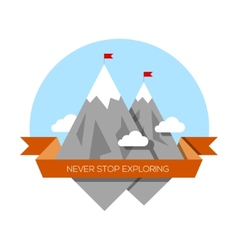 Mountain low-poly style vector