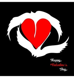 Swans loyalty and love vector image vector image