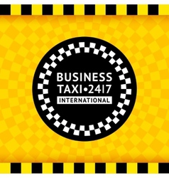 Taxi symbol with checkered background - 19 vector image vector image