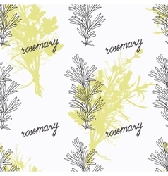 Hand drawn rosemary branch and handwritten sign vector image vector image