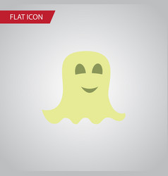 Isolated specter flat icon spirit element vector