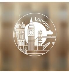 London round linear logo vector image
