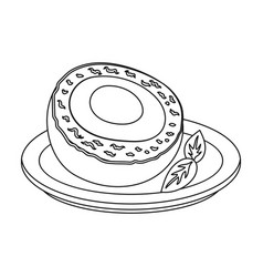 scotch eggs icon in outline style isolated on vector image vector image