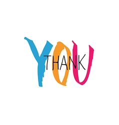thank you lettering colorful vector image