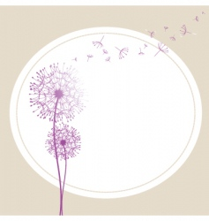 abstract dandelion in the wind vector image
