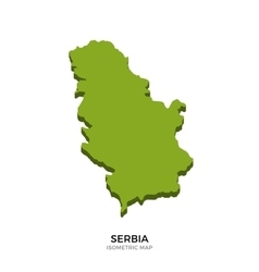 Isometric map of Serbia detailed vector image vector image
