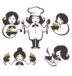 cooking women vector image vector image