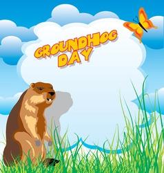 Groundhog day vector