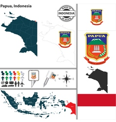 Map of Papua vector image
