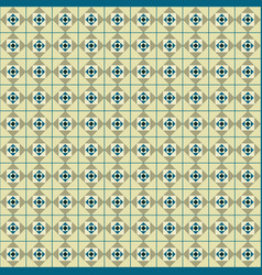 seamless geometric with squares between the lines vector image vector image