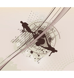 tennis dotted background vector image vector image