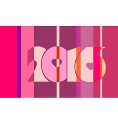 2016 year number on striped backdrop vector image