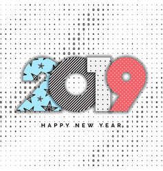 2019 happy new year numbers for design vector image