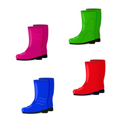 a set of rubber boots vector image