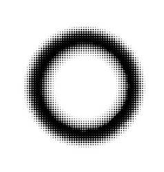 abstract halftone circle ring background vector image
