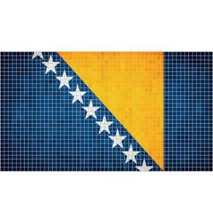 Abstract Mosaic flag of Bosnia and Herzegovina vector