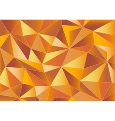 Abstract orange triangles 3d background vector image