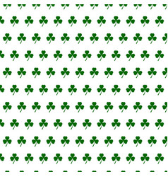 abstract seamless white and green shamrock vector image