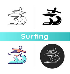 Air surfing technique icon vector