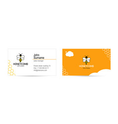 bee logo and modern bright design business card vector image